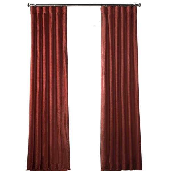Designer chambray single curtain panel