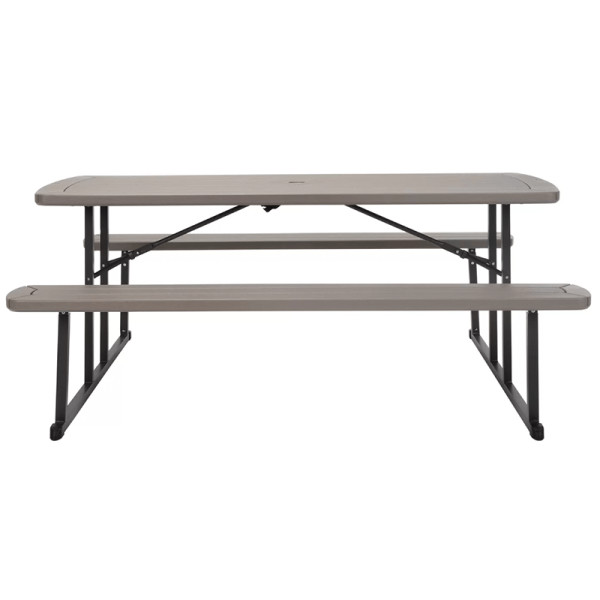 Freeport park adam blow mold folding metal picnic table