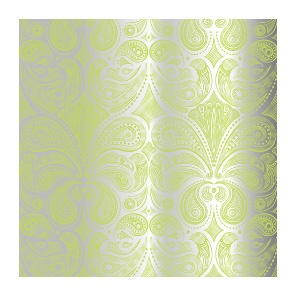 Jonathan adler bird paisley wallpaper in yellow and silver
