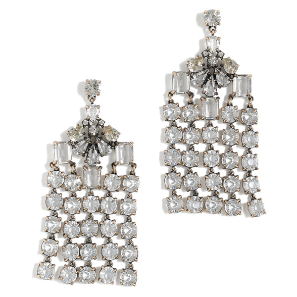 J. crew crystal chandelier earrings