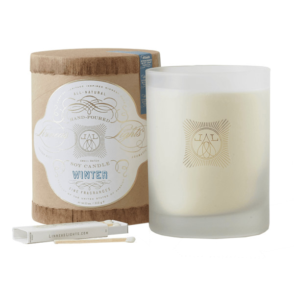 Linnea s lights winter 2 wick soy candle