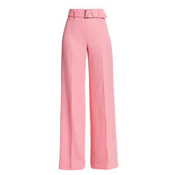 Akris pants floriane high waist belted wide leg pants