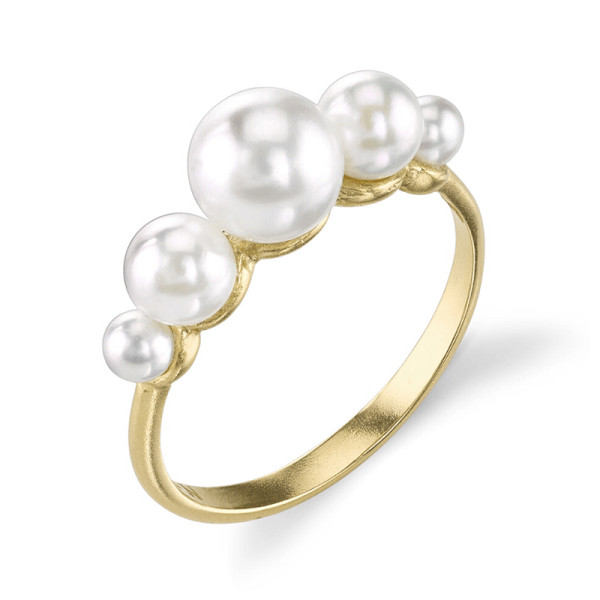 Irene neuwirth triple cultured akoya pearl ring