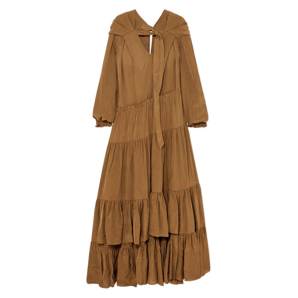 3.1 phillip lim long sleeve gathered dress