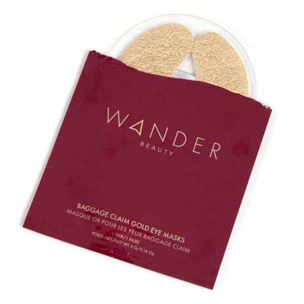 Wander beauty baggage claim gold eye masks