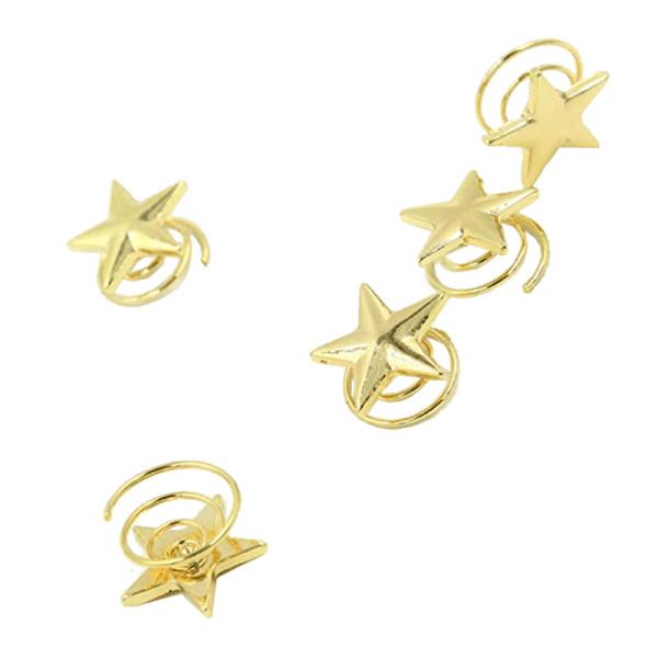 Shininglove golden spring twirl star hair clip