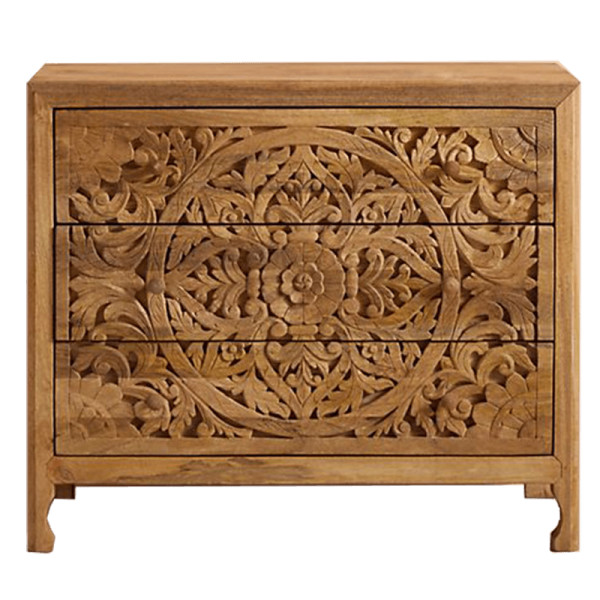 Anthropologie lombok three drawer dresser