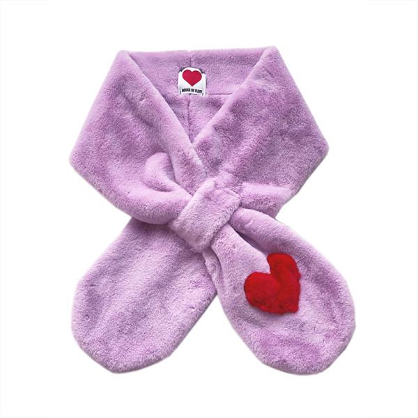 Teddy love scarf in lavender