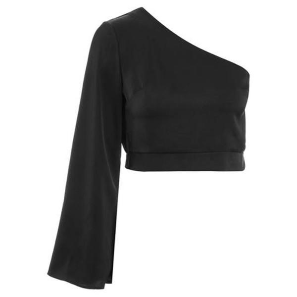 Topshop one shoulder blouse