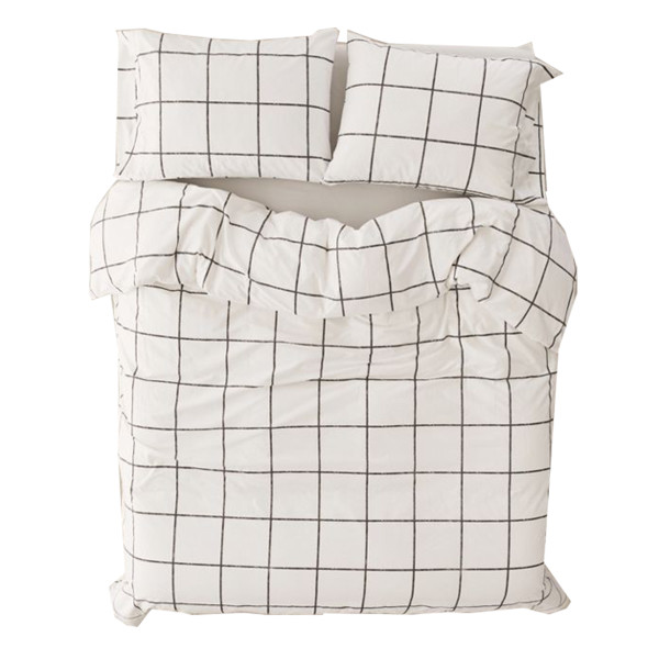 Urban outfitters distressed check duvet set