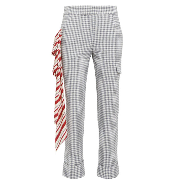 Hellesy beaton red scarf checked pants