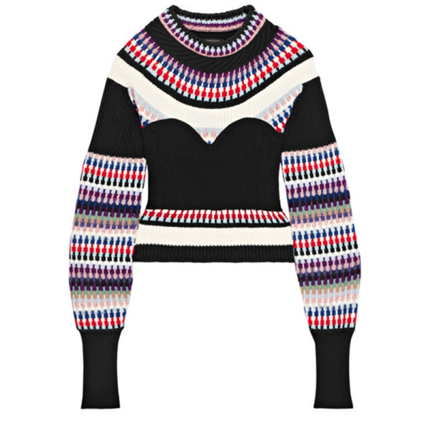 Burberry ribbed intarsia knit sweater