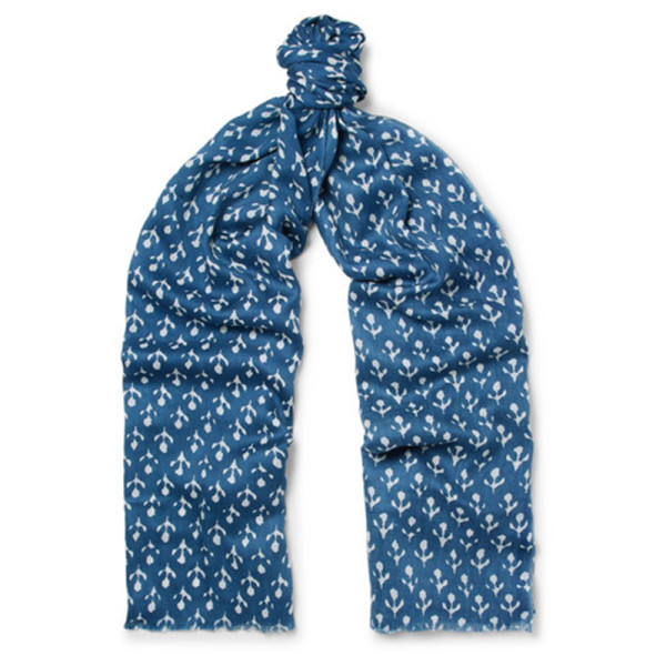 Anderson   sheppard printed silk and cashmere blend twill scarf