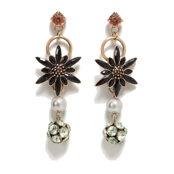 Mango faceted crystal earring