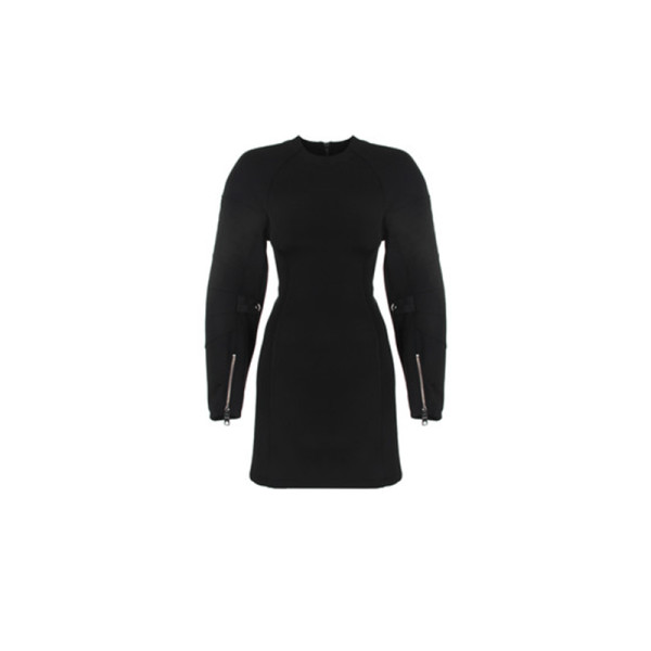 Versus versace sleeve detailed stretch jersey dress