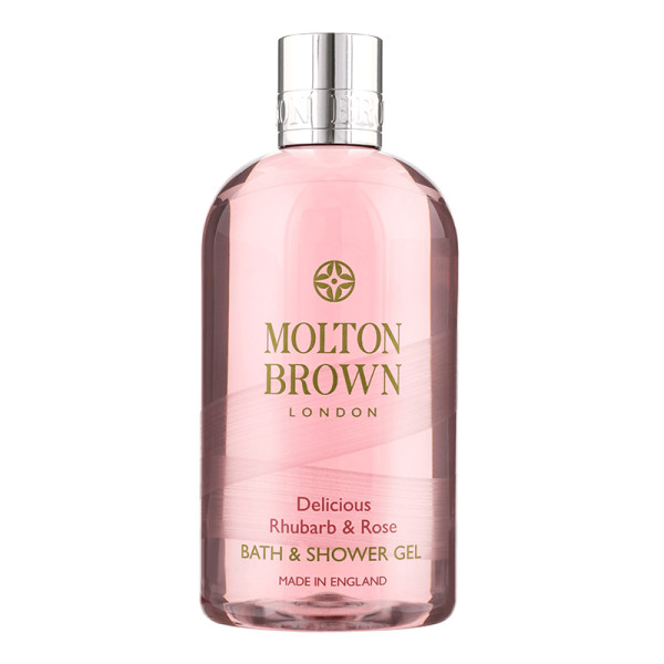Molton brown delicious rhubarb   rose bath   shower gel