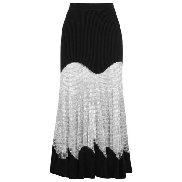 Alexander mcqueen metallic maxi skirt