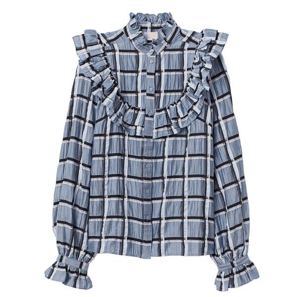 H m lyocell blend blouse