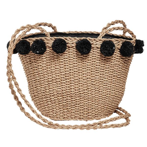 Lucky brand mini straw basket