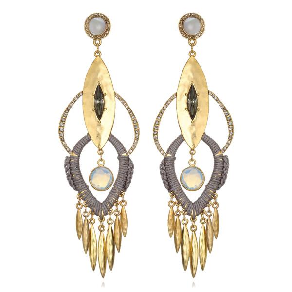 Sequin bimini chandelier earrings