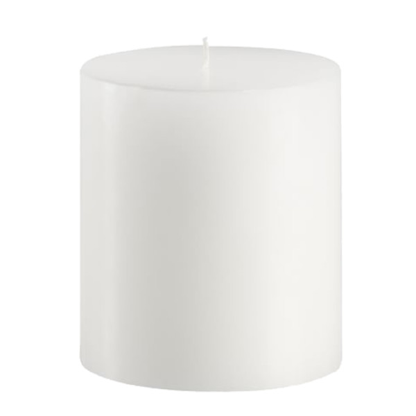 Pottery barn white pillar candle