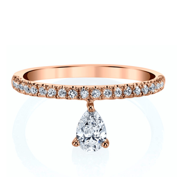 Anita ko diamond and 18k rose gold duchess eternity ring