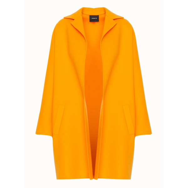 Akris harlow double faced wool   cashmere coat