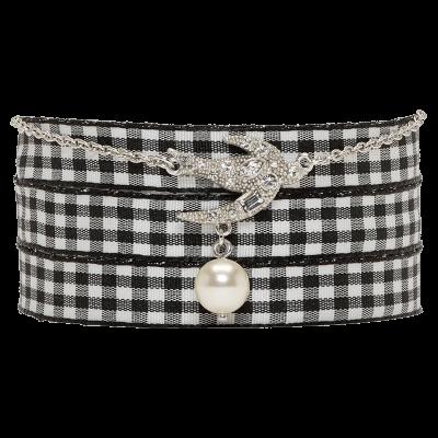Miu miu silver swallow pearl charm bracelet