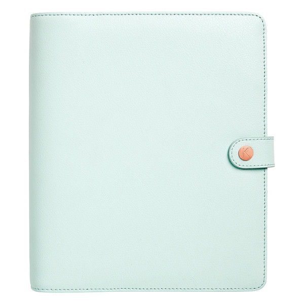 Kikki.k large mint leather personal planner