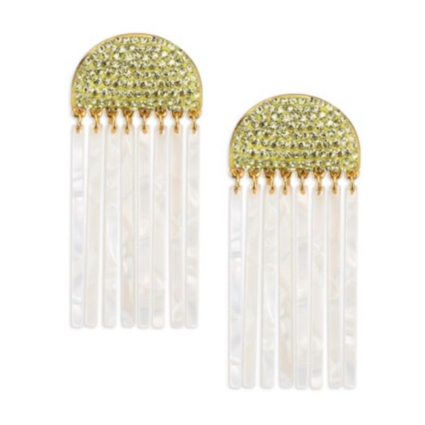 Lele sadoughi confetti crystal comb earrings