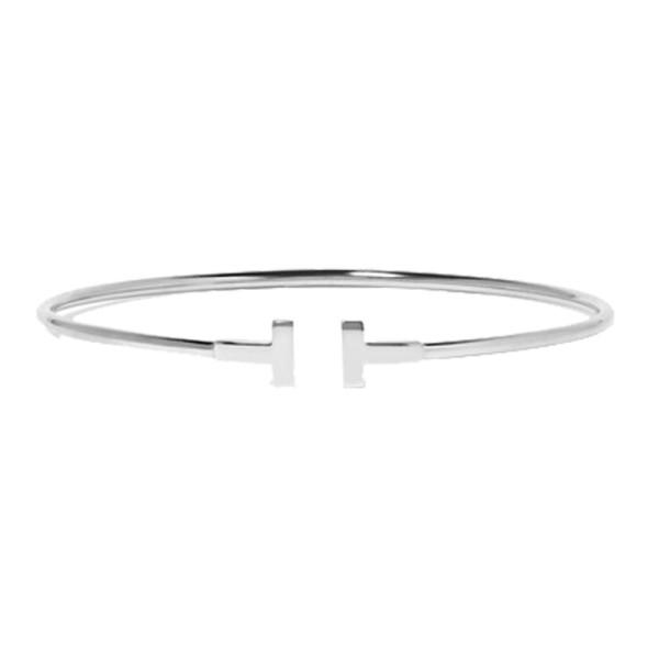 9b3e4dc66015 Tiffany   Co. - Tiffany T Narrow Wire Bracelet in 18K White Gold ...