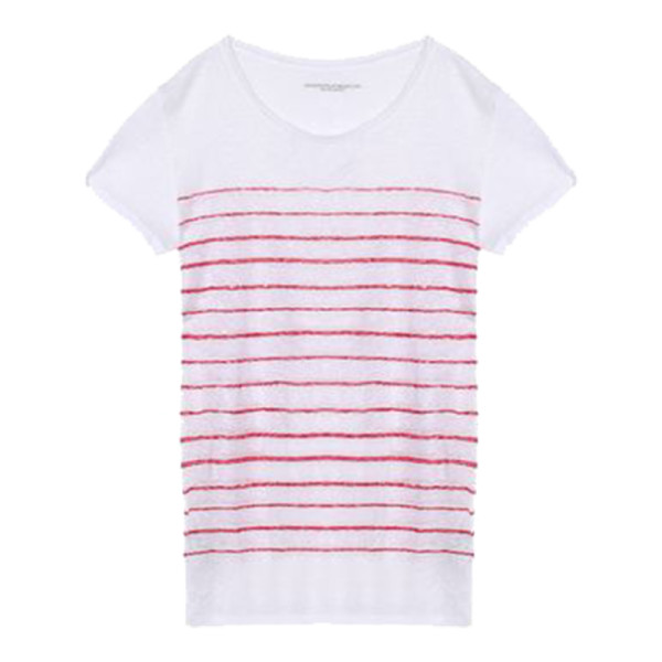 Majestic filatures  striped slub linen jersey t shirt
