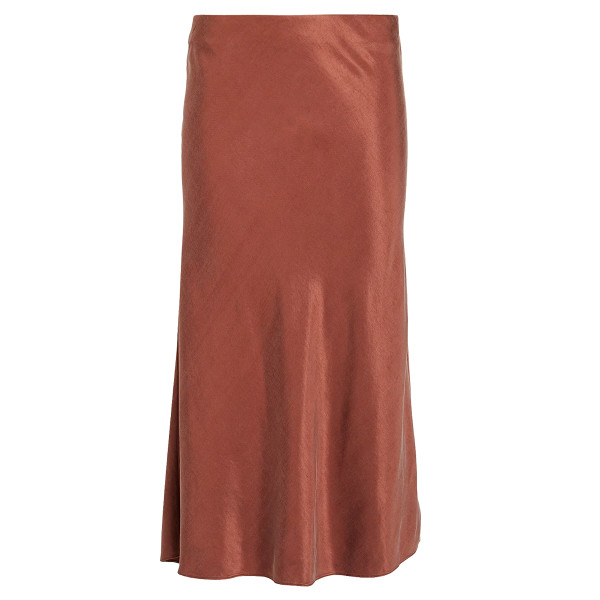 Intermix misha washed satin midi skirt