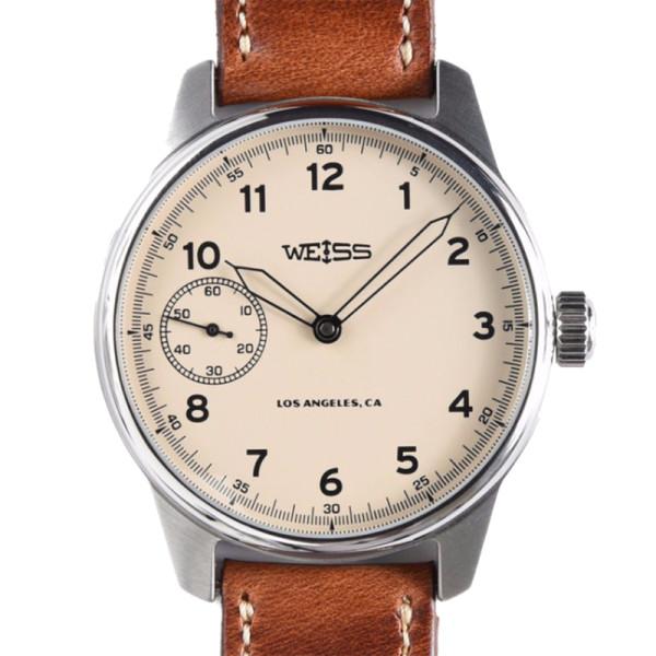Weiss watch co.standard issue field watch in latte