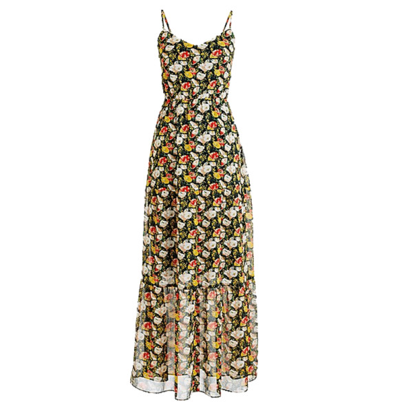 J. crew mercantile tiered maxi dress in sweet pea floral