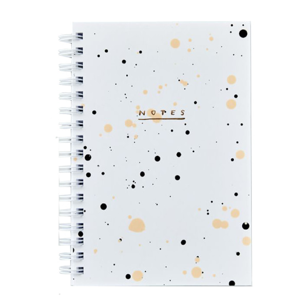 West elm pearl drip painted notebook