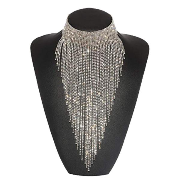 Holylove tassel collar statement necklace