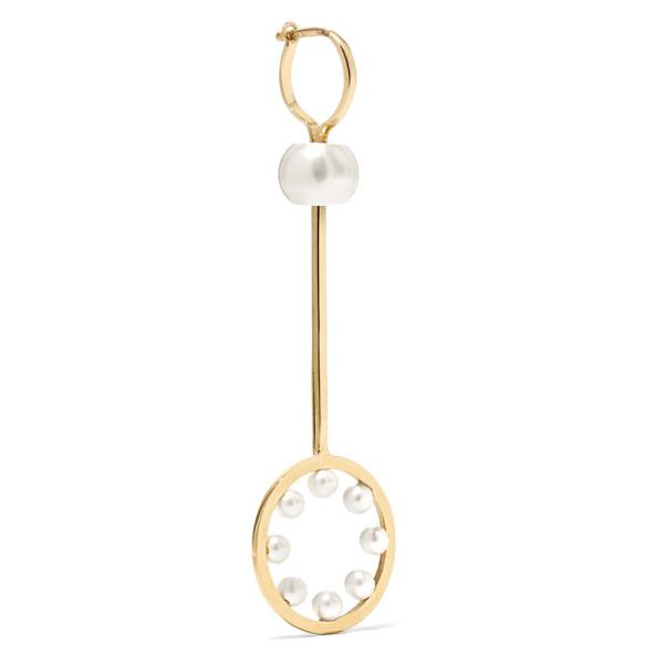 Delfina delettrez 18k gold pearl earring