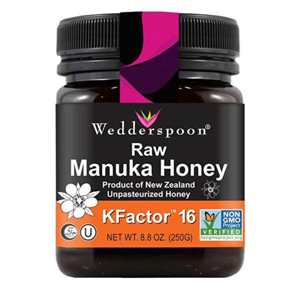 Wedderspoon 100  raw premium manuka honey kfactor