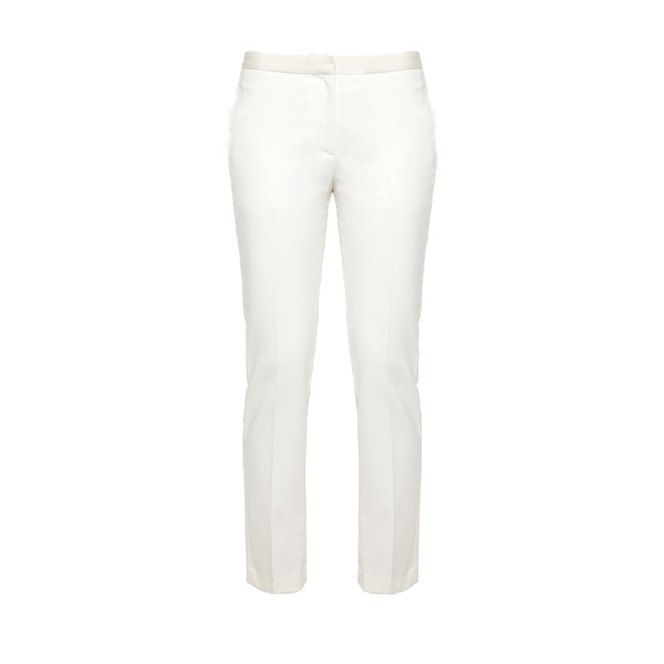 Theory   white wool tux pant