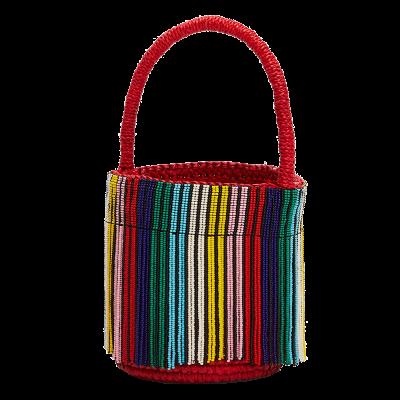 Sensi studio mini beaded bucket bag