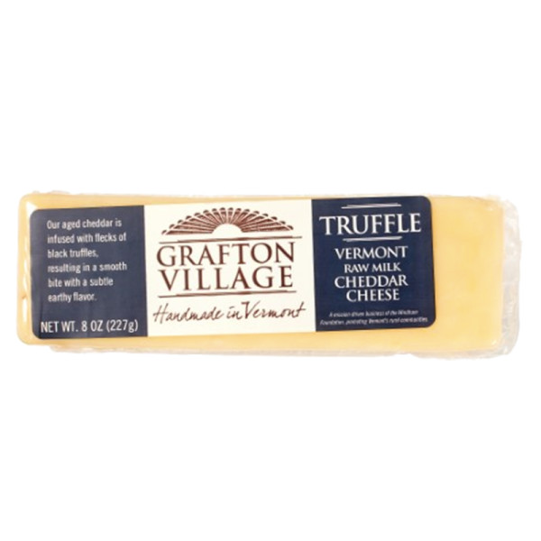Grafton village truffle cheddar cheese