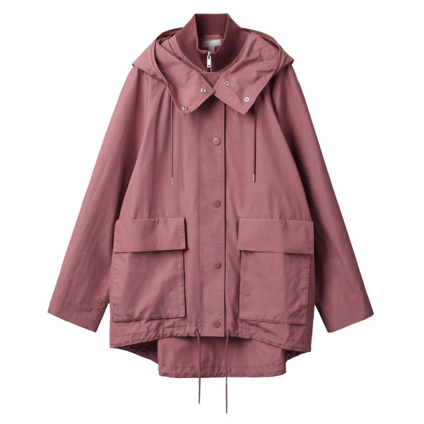 Cos layered cotton parka with hood