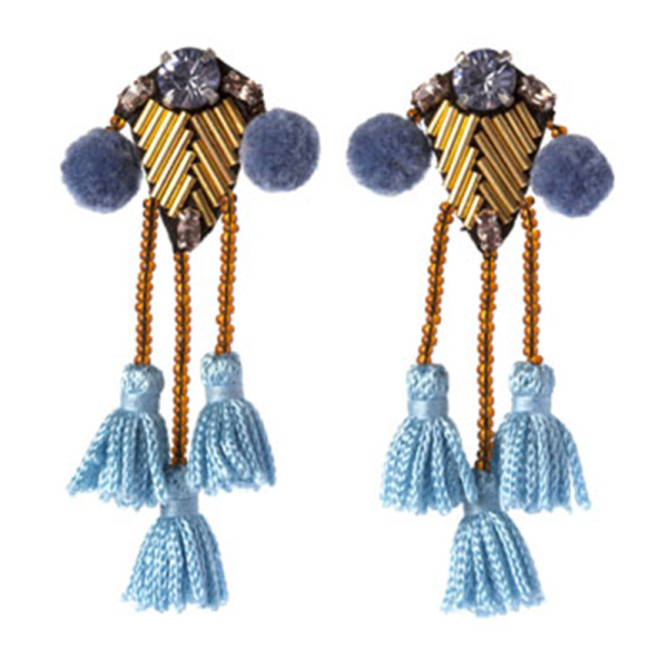 Mignonne gavigan meredith beaded tassel earrings