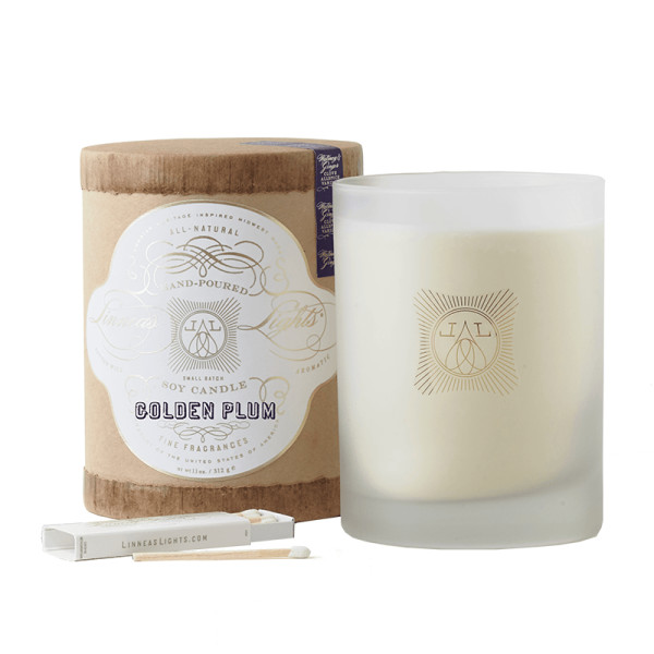 Linnea s lights golden plum 2 wick soy candle