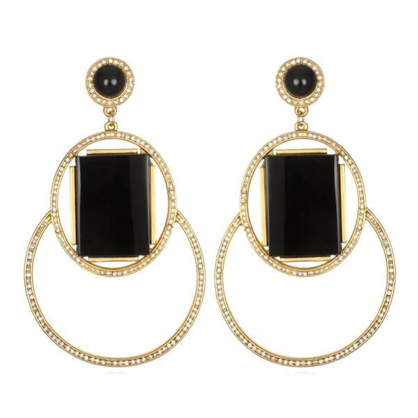 Sequin marquesas drop earrings