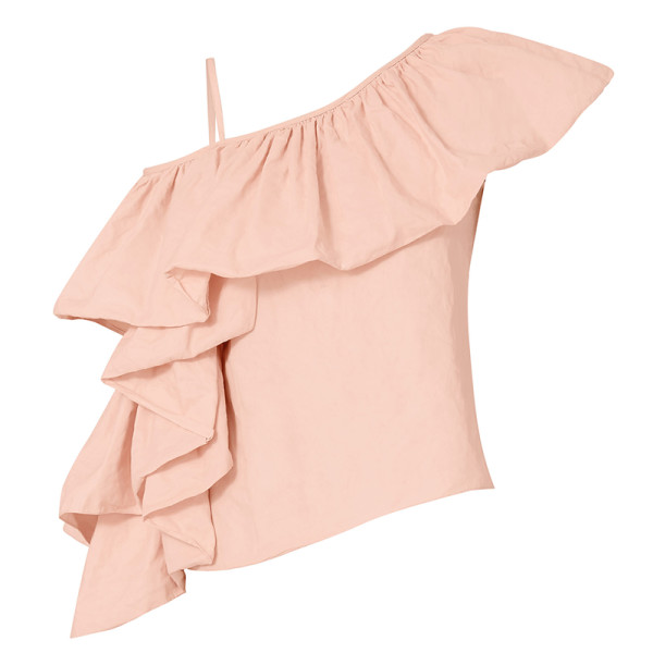 Marques almeida exagerated ruffle one shoulder top
