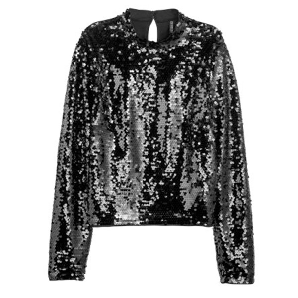 H m sequined top