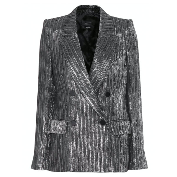 Isabel marant denel double breasted lame   cocktail blazer