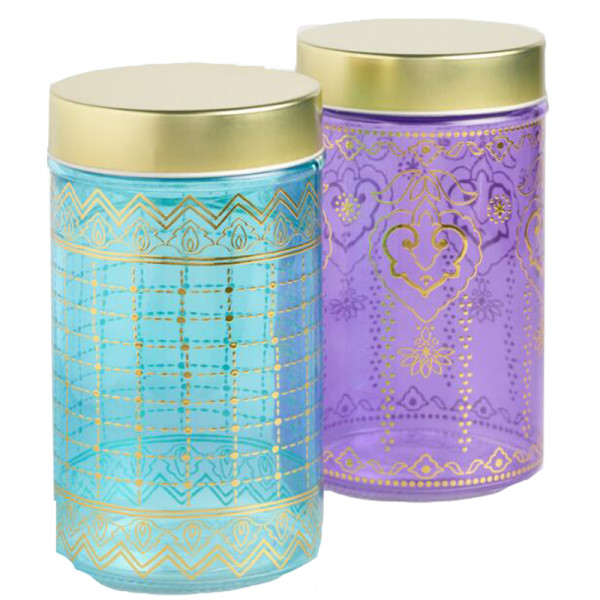 World market large glass jaipur storage containers